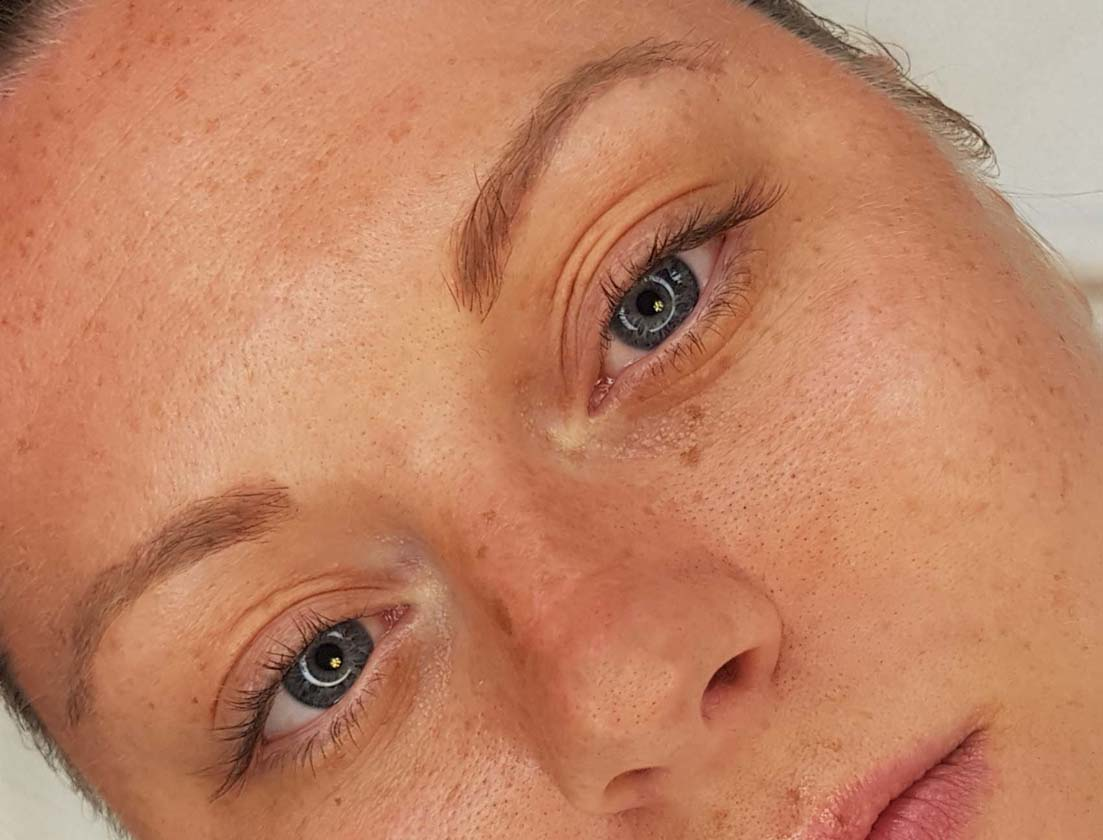 Before Ombre Brow Permanent Makeup