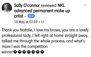 Facebook Client Review from Sally for Natalie Janman